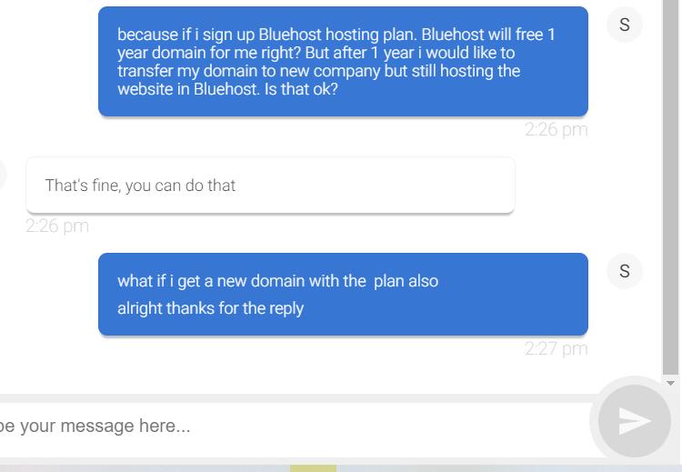 Bluehost免费域名